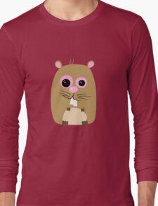 Cartoon Hamster Long Sleeve T-Shirt