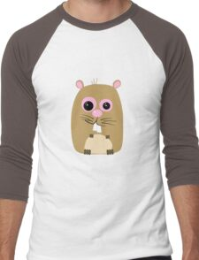Cartoon Hamster Men's Baseball ¾ T-Shirt