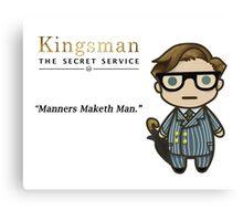 Manners Maketh Man - Harry Hart Canvas Print