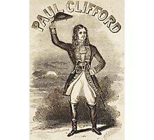 Highwayman Villain Paul Clifford vintage fop Dandy poster Photographic Print