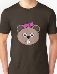Cartoon Girl Beaver Face T-Shirt