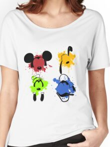 Mickey and Friends Splash Women's Relaxed Fit T-Shirt