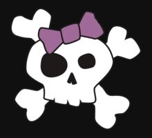 Cute Girly Skull by mdkgraphics