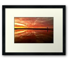 Infinity Sunset Framed Print