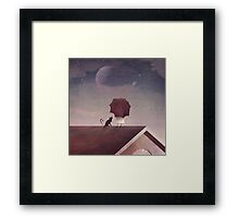Twin Moon Framed Print
