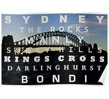 Stunning Sydney Suburbs Poster