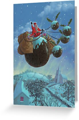 christmas pudding santa ride by martyee