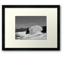 Wild seas at Bushrangers Bay Framed Print