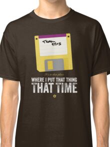 Hackers Movie - Floppy Disk - Cinema Obscura Collection Classic T-Shirt
