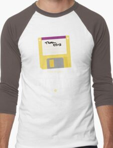 Hackers Movie - Floppy Disk - Cinema Obscura Collection Men's Baseball ¾ T-Shirt