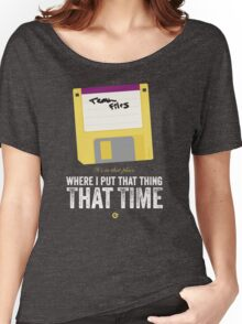Hackers Movie - Floppy Disk - Cinema Obscura Collection Women's Relaxed Fit T-Shirt