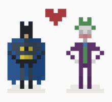 PIXELSHIP - BATMAN + JOKER T-Shirt