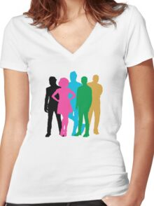 PTX Album Cover Women's Fitted V-Neck T-Shirt