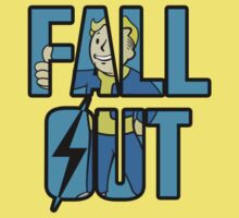 Fallout Vault Boy Inspired Text Kids Clothes