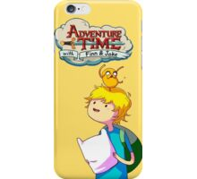 Adventure Time Animated Series Little Finn & Jake iPhone Case/Skin