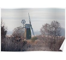 Turf Fen windmill, Norfolk Broads. Poster