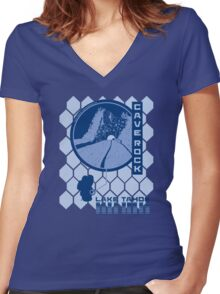 Cave Rock (Through the Looking Glass) Women's Fitted V-Neck T-Shirt