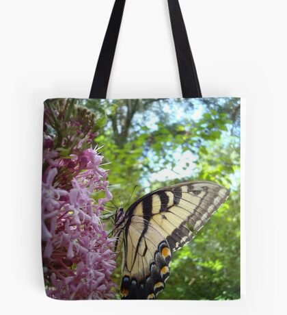 Tiger Swallowtail on Clerodendrom Tote Bag