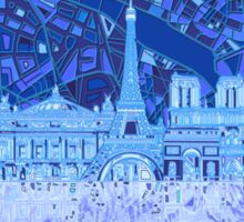 Paris skyline abstract Sticker