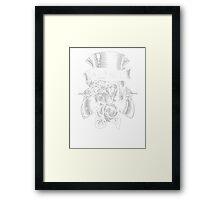 Pugs N Roses Framed Print