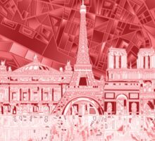 paris skyline abstract 2 Sticker