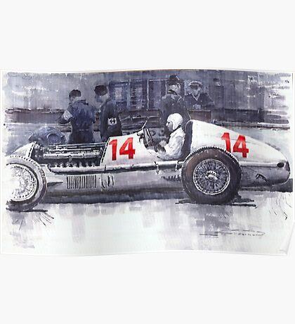 Mercedes W25C MonacoGP 1936 Manfred von Brauchitsch Poster