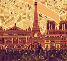 paris skyline abstract 3 Sticker