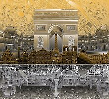 paris skyline abstract 4 by BekimART