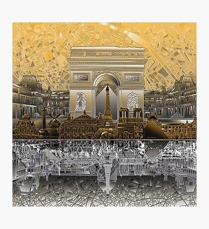 paris skyline abstract 4 Photographic Print