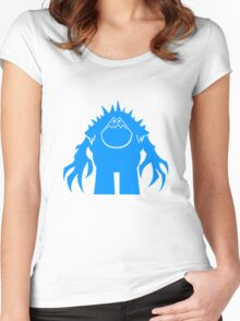 Marshmallow silhouette geek funny nerd Women's Fitted Scoop T-Shirt