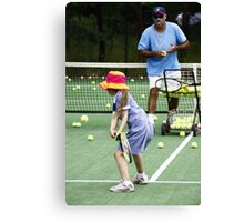 Eyes only for the ball Canvas Print