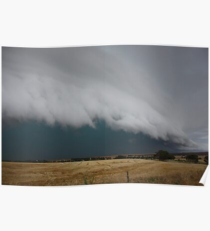 Severe storm near Crystal Brook Poster
