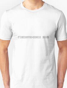 geek fixedsys comic sans Unisex T-Shirt