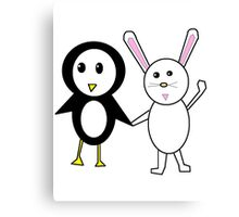 Bunny and Penguin Canvas Print