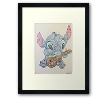 Musical Stitch Framed Print
