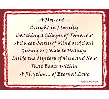 A Moment - Word Art Photographic Print