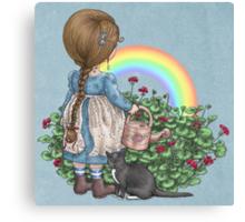 rainbows end card Canvas Print