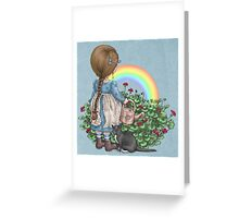rainbows end card Greeting Card