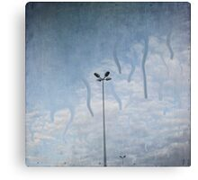 melting sky ~ Acid Rain Canvas Print