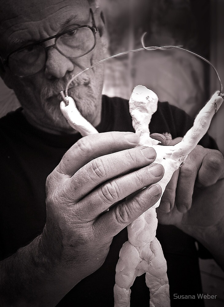 Sculptor's hands by Susana Weber