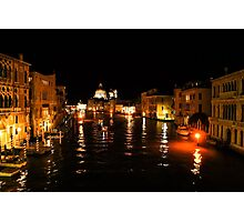 Impressions Of Venice - Grand Canal Gold Photographic Print