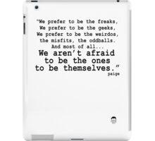 Best Geek Quote Ever... iPad Case/Skin