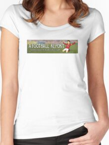 A Football Report Logo Women's Fitted Scoop T-Shirt