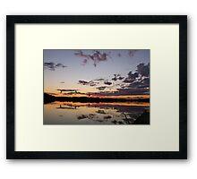 Sunset balloons Framed Print
