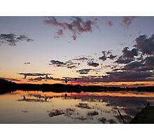 Sunset balloons Photographic Print