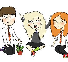 The Silver Trio (Neville, Luna, Ginny) by applepiearts