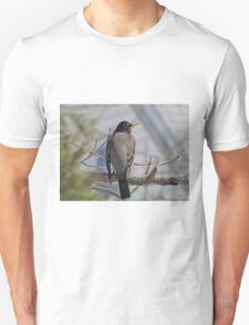 American robin in a tree Unisex T-Shirt