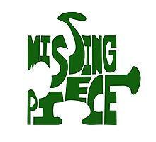 missing piece - green Photographic Print
