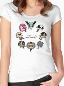 Saga Puffs Parody Women's Fitted Scoop T-Shirt