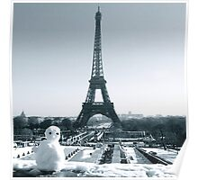 Winter in Paris Poster